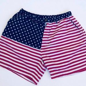 Chubbies Mens American Flag Shorts Size Large